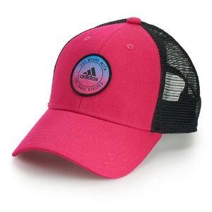 ADIDAS PRECURVED HOT PINK & BLACK Trucker Hat NWOT